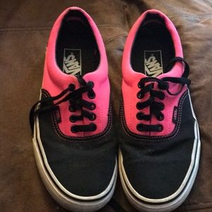 Vans Shoes Hot Pink Black Women's  size 8 mens 6.5